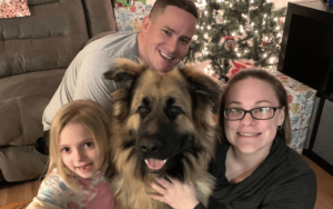 Army soldier finds unexpected companionship with 90-pound shelter dog