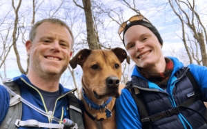 Adopted dog helps Naval officer and his wife stay healthy during COVID-19